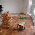 Colocação de tacos de madeira